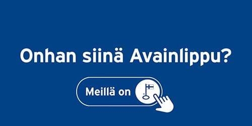 Onhan siinä Avainlippu-kampanjan logo