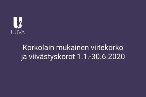 Korkolainmukainen_viitekorko ja viivästyskorot 1.1.-30.6.2020
