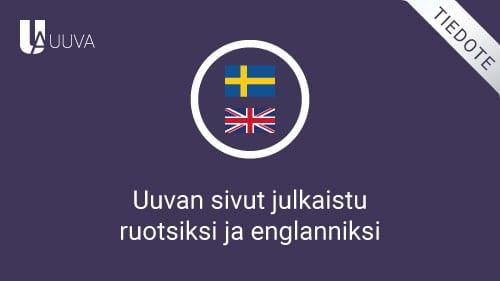 Sivut englanniksi ja ruotsiksi