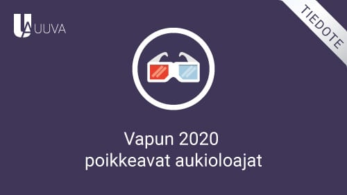 Vapun 2020 poikkeavat aukioloajat